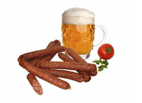 Сырокопченые колбаски к пиву